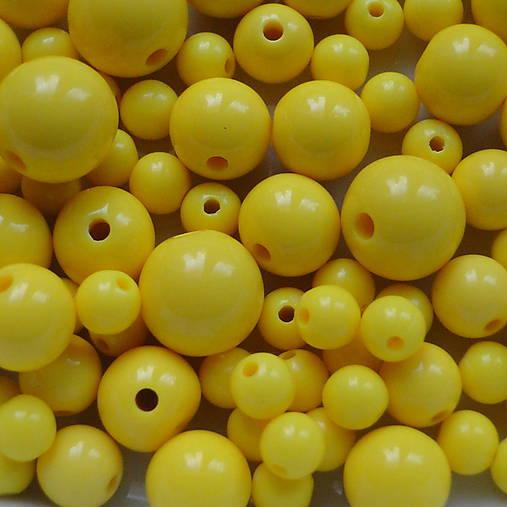 Plastové korálky-MIX-50g (COLOR 6-12mm-žltá)