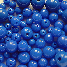 Korálky - Plast-MIX 6-12mm-50g - 5549852_