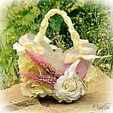 Lili - svadobný košíček