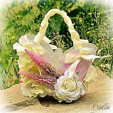 Detské doplnky - Lili - svadobný košíček - 5550671_