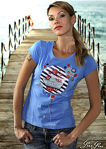 Tričká - Modré tričko s loďkou - 5550674_