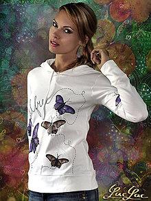 Mikiny - Mikina Rozlietané motýle - 5550690_