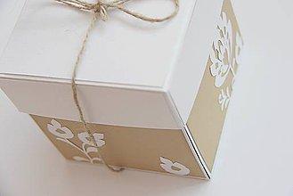 Papiernictvo - Krabička na peniažky pre novomalnželov - 5550482_