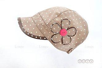 Detské čiapky - Natur šiltovka ⒹⓄⓉⓈ maliny - 5553004_