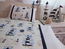 Úžitkový textil - Detské posteľné obliečky Modré majáky - 5552727_