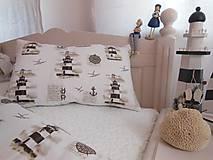 Úžitkový textil - Detské posteľné obliečky Natur majáky - 5552739_