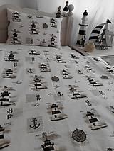 Úžitkový textil - Detské posteľné obliečky Natur majáky - 5552741_