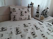 Úžitkový textil - Detské posteľné obliečky Natur majáky - 5552742_