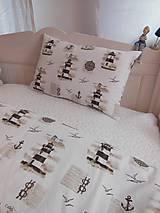 Úžitkový textil - Detské posteľné obliečky Natur majáky - 5552743_