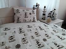 Úžitkový textil - Detské posteľné obliečky Natur majáky - 5552744_
