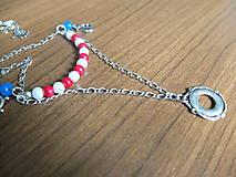 Náhrdelníky - Námornícky náhrdelník - 5554105_