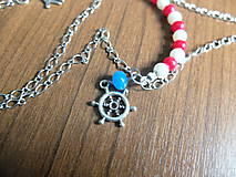 Náhrdelníky - Námornícky náhrdelník - 5554137_