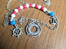 Náhrdelníky - Námornícky náhrdelník - 5554147_