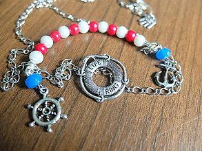 Náhrdelníky - Námornícky náhrdelník - 5554144_