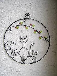 Dekorácie - mačky v kruhu 17cm - 5556391_