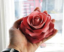 Drobnosti - Ruža z marcipánu XL - 5556227_