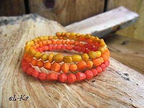 Náramky - Oranžová dúha - 5555410_