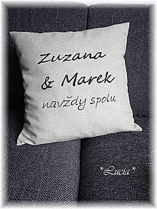 Úžitkový textil - Zuzana & Marek na želanie - 5553789_