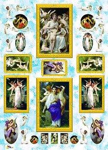 Papier - dekupáž papier anjeli - 5555424_