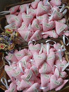 Darčeky pre svadobčanov - Svadobné srdiečka s iniciálkami T&M - 5554448_