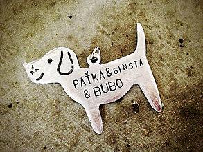 Kľúčenky - PUPPY s menami..alebo iným nápisom / 2mm hrúbka + mini skoba - 5557891_