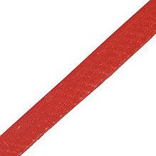 Galantéria - Kožený remienok, červený 5mm/0,5m - 5556852_