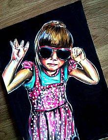 Kresby - Portrét-kombinovaná technika - 5558955_