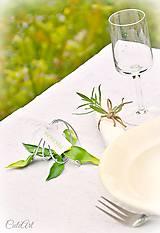 Orchidea - darčeky pre svadobných hostí - menovky