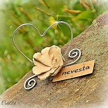 Darčeky pre svadobčanov - Darčeky pre svadobných hostí - menovky - 5558057_