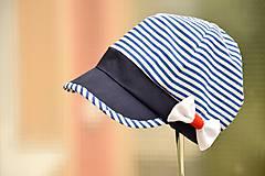 Detské čiapky - Dievčenská navy šiltovka - 5560115_