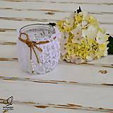 Svietidlá a sviečky - Svietniček krajkovaný - 5558832_