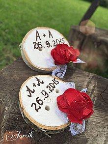 Darčeky pre svadobčanov - Gombík pre šťastie - 5558076_