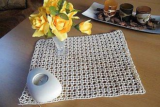 Úžitkový textil - Háčkovaná dečka maslovej farby - 5559583_