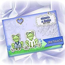 Papiernictvo - Zvieracia svadba - grafická pohľadnica - žabky - 5556880_