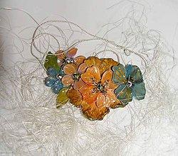 Náhrdelníky - golden flower - 5562280_