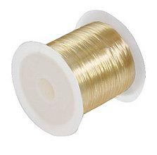 Galantéria - Elastický silikónový vlasec medový - 0,6mm /10m - 5561877_