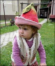 Čiapky - ♥ Jabĺčkový klobúčik - pre malú víločku ♥ - 5560738_