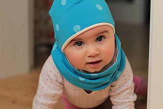 Detské čiapky - Tenká čiapočka+nákrčník - 5561840_