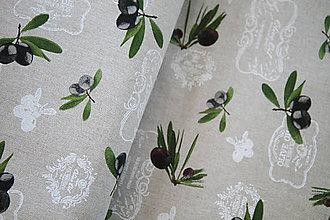 """Textil - Dekoračná látka """"olivy"""" - 5560879_"""