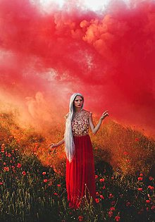 Šaty - Šifónové šaty so zlatou krajkou - 5561733_