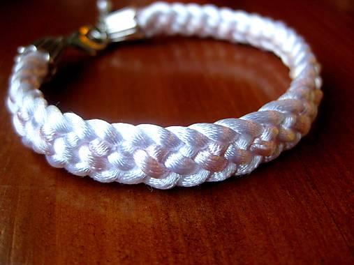 8848ac49a Peletený náramok tenký (Biely pletený náramok 1cm č.219) / TARRA ...