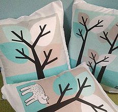 Úžitkový textil - medveď v lese - 5561838_