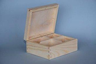 Polotovary - Krabica na čaj, 4 priečinkova - 5565398_