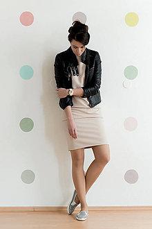 Šaty - Šaty s otvoreným chrbátom v púdrovej ružovej s 3/4 rukávmi M /L na výšku 180 cm - 5563668_