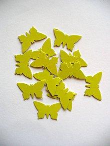 Papier - motýl- limetka/ 10ks - 5563982_