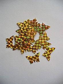 Papier - motýľ zlatý/ 10ks - 5563993_