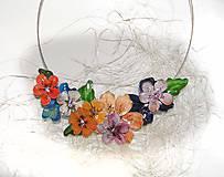 Náhrdelníky - flowers 15 náhrdelník - 5567665_
