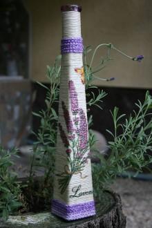 Dekorácie - Váza - levanduľa 2 - 5568282_