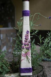 Dekorácie - Váza - levanduľa 3 - 5568286_