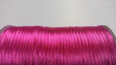 Galantéria - Saténová šnúrka 2,5 mm ružová - 5568198_